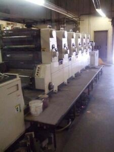 Printing Press 2000 Akiyama Bt 628 l Under Power