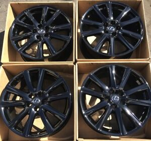 19 Lexus Gs Gs350 Gs450 F Sport Gloss Black Wheels Rims Factory Set Oem 74296