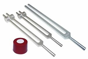 Radical Chiron Set Of 3 Low Mid And High Tuning Forks With Activator And Pouch
