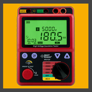 High Voltage 5kv Insulation Resistance Tester Meter Megger 1t Ohm Pi Ar3125