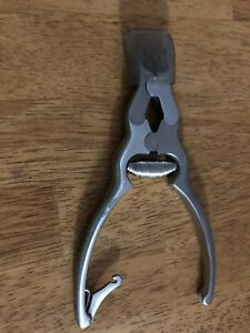 Miltex integra Nail Splitter 6 Concave Jaws Double Action Spring 40 219 used