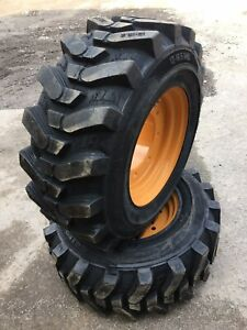 2 New 12 16 5 Hd Sks532tires wheels rim For 4x4 Case 580 Backhoe super M
