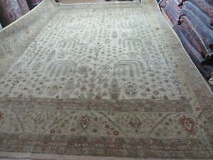 12 X 15 Vintage Hand Made Oushak Mahal Sultanabad Wool Rug Carpet Tea Washed