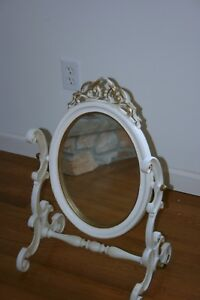 Vintage Oval Table Top Vanity Mirror