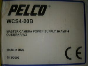 Pelco Wcs4 20b Outdoor Multiple Camera Power Supply 20 Amp New In Unopened Box
