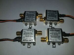 Set Of 4 Mini Circuits Amplifier Zx60 8008e 1 20 8000 Mhz 8 Ghz 12 Vdc