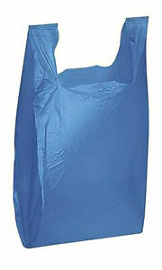 Plastic Shopping Bags blue T Shirt Bags 11 X 6 X 21 Case Of 1 000