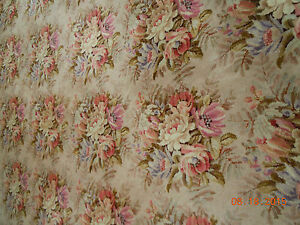Extra Large Vintage French Floral Bouquets Wool Rug 15 Feet