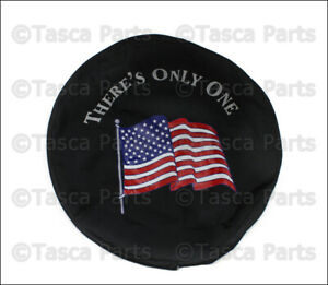 New Oem Mopar American Flag 32 33 Spare Tire Cloth Cover 1997 2015 Jeep Wrangler