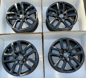 18 Lexus Nx200t Nx300h Factory Oem Rims Wheels 74328 Gloss Black 2015 2016 2017