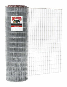 Red Brand Horse Fence 60 H X 100 L Silver Galvanized Steel