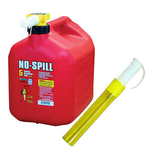 No spill 1450 5 gallon Poly Gas Can Budle With No spill 206 Flexible Spout Exten