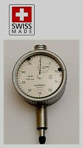 Brown Sharpe Tesa Dial Test Indicator 0 01mm Compac Geneve Swiss Serial 353