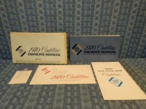 1970 Cadillac Original Owners Manual Package In Factory Envelope 5 Pieces