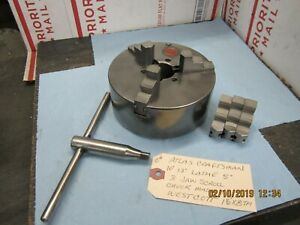 Atlas Craftsman 10 12 Lathe 5 3 Jaw Scroll Chuck 11 2 X 8 T p i