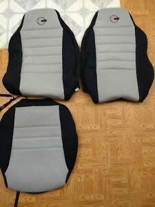 Replace Chevy Corvette C4 1984 1996 Preowned Wet Okole Black Gray Seat Covers