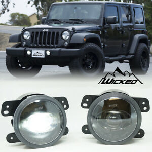Wicked 2007 2017 Jeep Jk 11 13 Grand Cherokee True Cree Led Fog Light Kit Pair