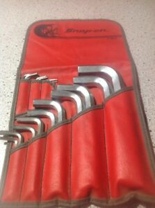 Snap On Tool Usa Vintage Allen hex Key Wrench Anle Set Sae Standard 18 Piece