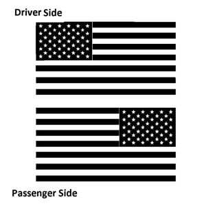 American Flags Tactical Military Flag Black Out Set Of 2 Usa Vinyl Decal Sticker