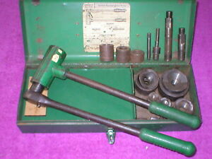 Greenlee 1804 Ratchet Knock Out Punch And Die Set 1 2 To 2