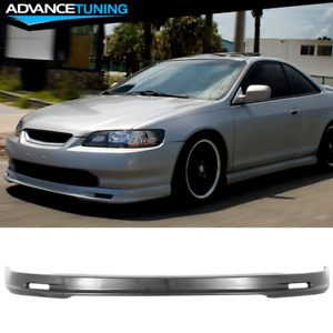 Fits 98 00 Honda Accord Mugen Style Front Bumper Lip Spoiler Pp