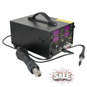 Soldering Station 909d 4 In 1 Hot Air Gun Rework Solder Station Heat Gun Machine
