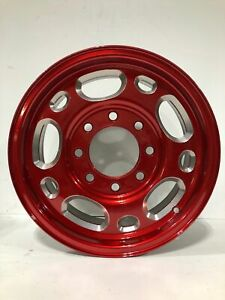 2003 Silverado 2500 16 8 Lug Wheels Powdercoated Red Chrome Chevrolet Gmc