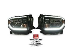 New Oem Toyota Tundra 2018 And Up Trd Sport Led Front Headlights 2 Piece Set