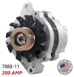 200 Amp 7888 11 Alternator Chevy Corvette 1988 1991 High Output Generator