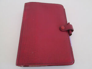 Filofax Organiser Vintage Personal Size Red Calf Leather 4 Clf 7 8
