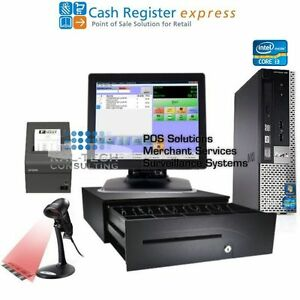 Pcamerica Pos System Cash Register Express Pro Retail Station Version New I3 4gb