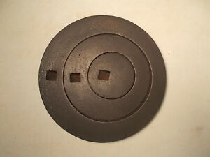 Antique Cast Iron Wood Stove Three Ring Cover Lid Marked 8 On Back