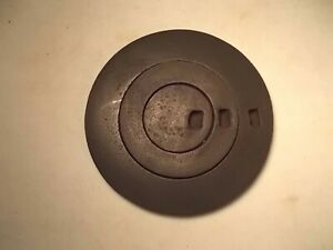Antique Cast Iron Wood Stove Three Ring Cover Lid Marked Hub 7 8 On Back