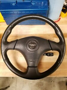 2007 Toyota Corolla S Leather Steering Wheel With Custom Trd Carbon Horn Emblem