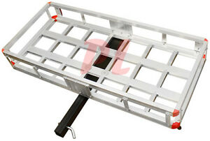 500 Lb Aluminum Cargo Carrier Hitch Receiver Mount Luggage Large Loads Rack
