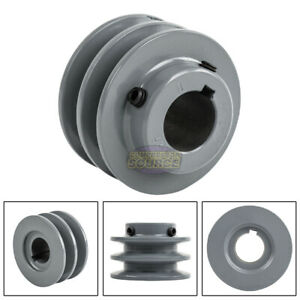 2 75 Cast Iron 1 Shaft Pulley Sheave 2 Groove V Style A Belt 4l New Single