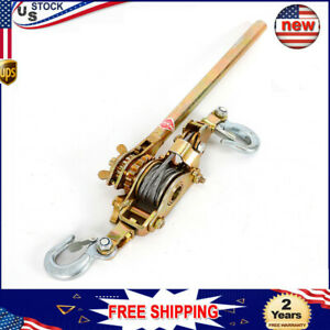 Hot Heavy Duty Hand Puller Come Along Cable Strong Alloy Hoist Hooks Ratchet Usa