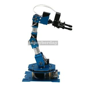 6dof Robot Arm 6 axis Aluminum Robotic Arm With Servos Standard Version Finished