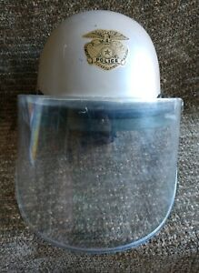 Gold Badge Military Police Swat Border Patrol Riot Gear Helmet With Face Shield