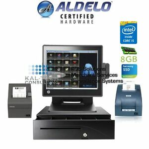 Aldelo Pro Restaurant All in one Complete Pos System Bundle New I5 8gb Ram