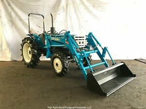 Mitsubishi D3250d Diesel Compact Tractor With Front End Loader