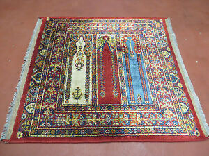 3 X3 Vintage Machine Made Belgian Belgium Rug Mehrab Prayer Pattern Lahore Nice