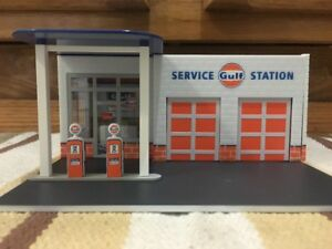 Gulf Service Station Decor Plastic Gas Pump Garage Oil Bar Ford Chevy Display
