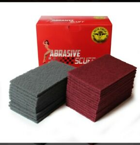 Insta Finish Rectangle Scuff Pads 6 X9 Size 15 Maroon 10 Gray 25 Pieces T