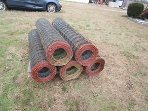 Red Brand 5 High Mesh Galvanized Sheep Goat Fencing Pick Up Only 5 Rolls Nj