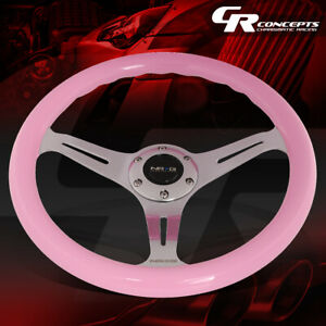 Nrg 350mm Chrome 2 Deep Dish Spoke Pink Wood Grip Steering Wheel Replacement
