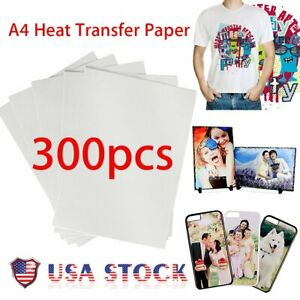 200pcs A4 Sublimation Heat Transfer T shirt Paper For light Fabric Bs