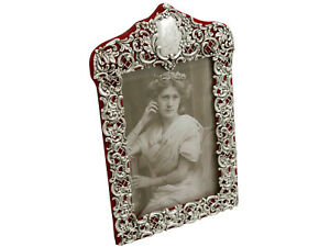 Victorian English Sterling Silver Photograph Frame Birmingham