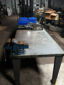 Heavy Duty Vise Steel Shop Bench Table Industrial Grade 3 8 Built Solid