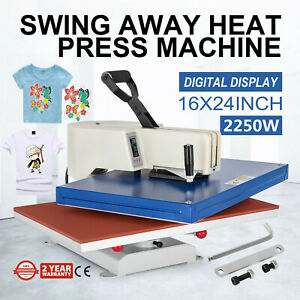 16 x24 Digital Heat Press Transfer Machine Sublimation Plate Printer Heavy Duty